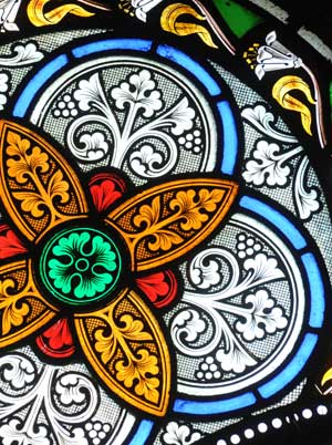 Rose Window, Stained Glass Window, St.Marys Church of Ireland, Killarney